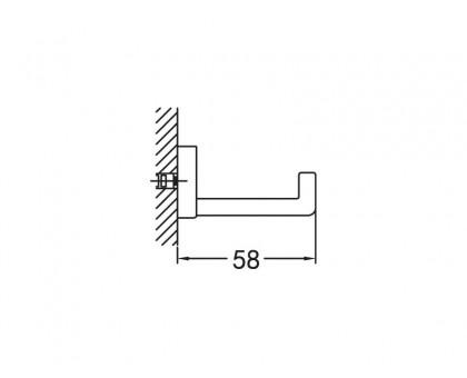 Крючок одинарный подвесной ART&MAX AM-F-8922
