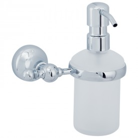GIALETTA Дозатор жидкого мыла настенный, хром/матовое стекло