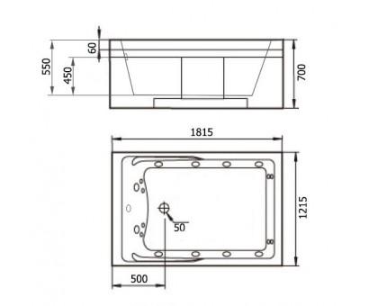 Акриловая ванна Gemy G9061 B R