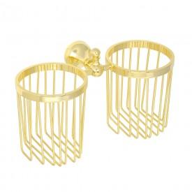 GIALETTA Корзинка двойная универсальная настенная, золото