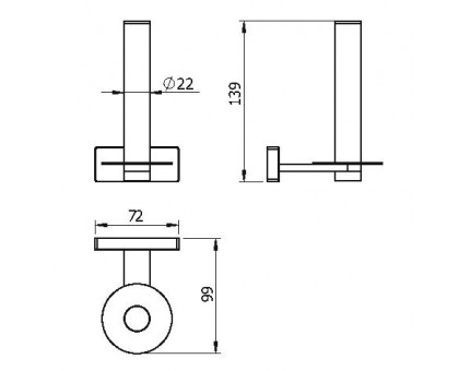 Бумагодержатель вертикальный LANGBERGER 10948A