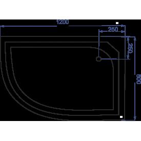 Душевой поддон полукруглый FIINN 120х80 НПК L/R