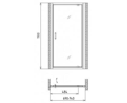 Душевая дверь Gemy Sunny Bay S28130
