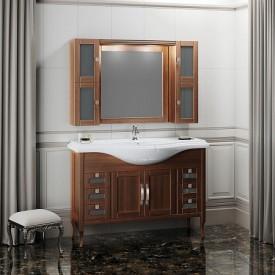 Мебель для ванной Мираж 120 Opadiris 00-00000058 (Тумба с раковиной + зеркало)