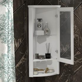 Шкаф Клио подвесной угловой, левый, с матовым стеклом Opadiris Z0000014862