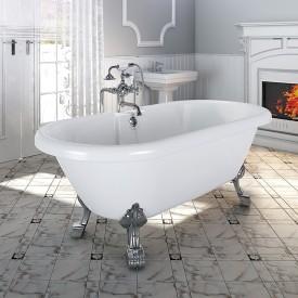 "Акриловая ванна ""Леонесса 1"" на ножках со сливом-переливом Radomir 1-01-2-0-1-138"