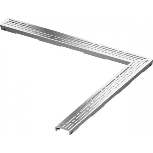 Декоративная решетка угловая TECE drainline basic 611210