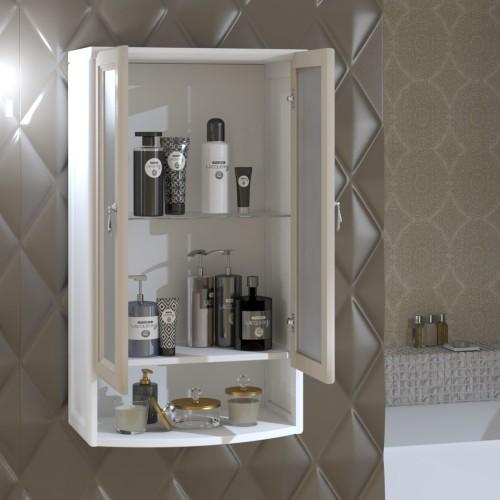 Шкаф Клио подвесной 2 створчатый, с матовым стеклом Opadiris Z0000014859