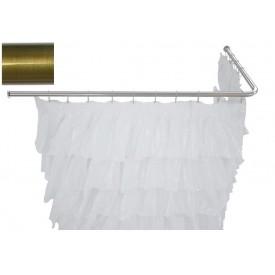 Карниз для ванны угловой Г-образный Aquanet 130x70 00241633