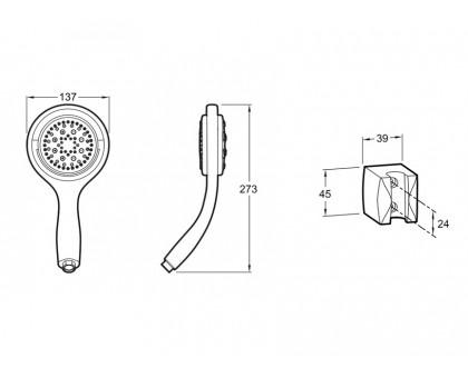 Душевой комплект Jacob Delafon E15891-CP