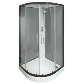 W75C-301-090BT Sense New душевая кабина 90х90 стекло прозрачное профиль черный