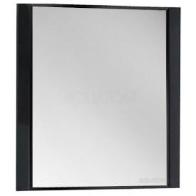 Зеркало Ария 80 черный глянец Aquaton 1A141902AA950