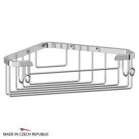 Полочка-решетка с крючками угловая (хром) FBS RYN 002 18 см