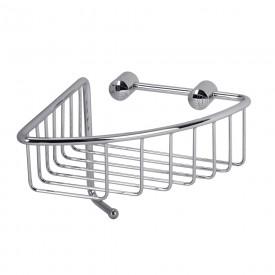 BASKET Решетка угловая 16,5х16,5хh12,6 см., с крючком, хром