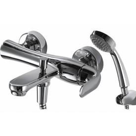 Смеситель для ванны с коротким изливом с аксессуарами Bravat Flow F671105C-B