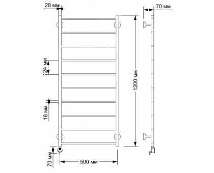 Полотенцесушитель электрический Secado Триада 1 50х120 1671-2869