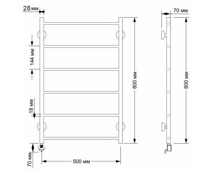 Полотенцесушитель электрический Secado Триада 1 50х80 1671-2867