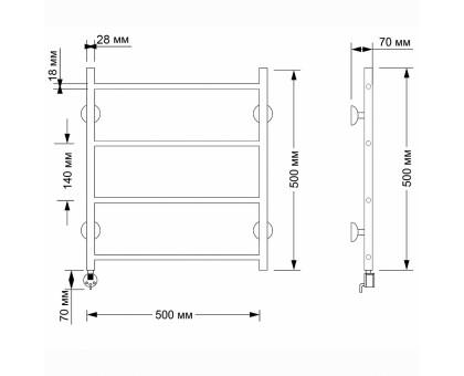 Полотенцесушитель электрический Secado Триада 1 50х60 1671-2865