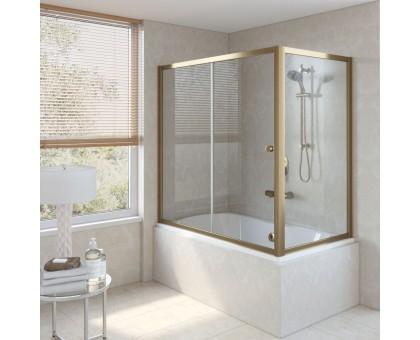Душевая шторка на ванную ZV+ZVF 150*90 02Г 01 VegasGlass