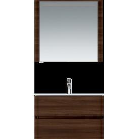 M30MCR0801NF Sensation зеркало зеркальный шкаф правый 80 см с подсветкой орех текстурированна