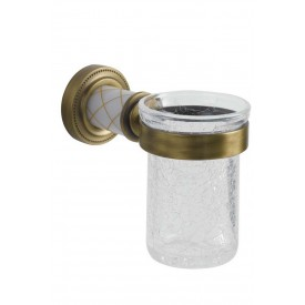 Настенный стакан для зуб. щеток Boheme Murano 10904-W-BR