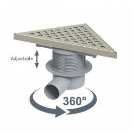 Трап угловой горизонтальный 50мм DELTA SMART 360H VDR-710330 Valtemo