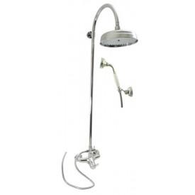 Смеситель RAV Slezаk для душа с переключателем,душ. штангой 1300mm, ручная лейка,верхний душ 20см,душевой шланг 1,5м.L081.5/3