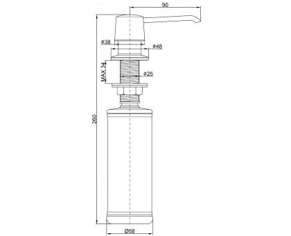 Дозатор для кухни Paulmark Sauber D001-331