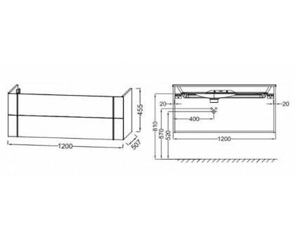 Тумба Jacob Delafon под раковину-столешницу EB3035-E16
