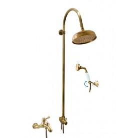 Смеситель RAV Slezаk для ванной, с душевым комплектом, штанга 1120мм, керамический переключатель L054.5/3SM