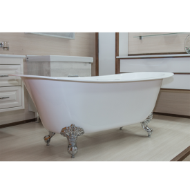 "Акриловая ванна ""Орли"" на ножках со сливом-переливом Radomir 1-01-2-0-1-143"