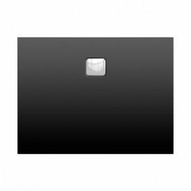 Акриловый душевой поддон Riho 414 100x90 черный матовый, накладка хром DC241700000000S