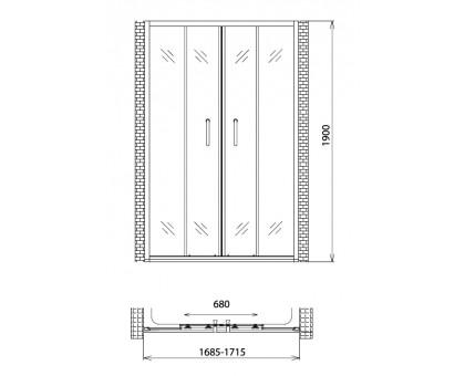 Душевая дверь Gemy Victoria S30192C