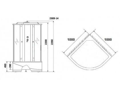 Душевая кабина Niagara Classic NG-2309-14G 100x100