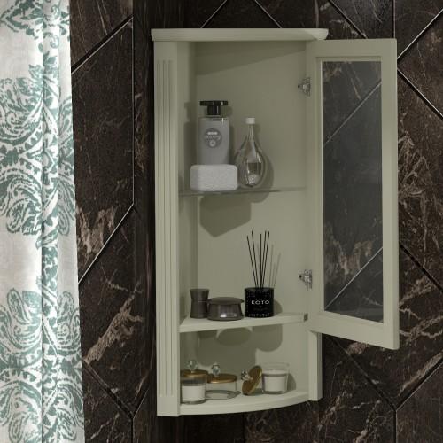 Шкаф Клио подвесной угловой, правый, с матовым стеклом Opadiris Z0000014860