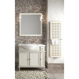 Мебель для ванной Санрайз 90, Opadiris Z0000008655 (Тумба левая с раковиной + зеркало)