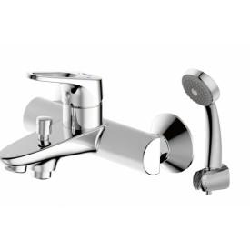 Смеситель для ванной на 2 отверстия Bravat F648162C-B-RUS