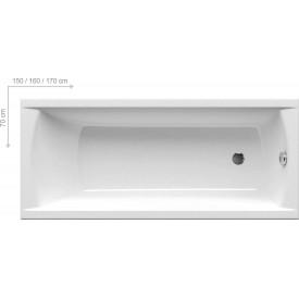 Акриловая ванна Ravak CLASSIC C541000000 170x70 N белая