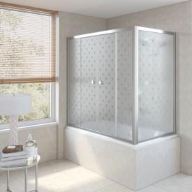 Душевая шторка на ванную Z2V+ZVF 150*90 08 R05 R VegasGlass