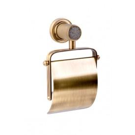 Держатель для туалетной бумаги с крышкой Boheme RoyalCristal 10921-BR