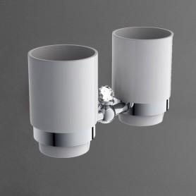 Держатель стакана двойной подвесной ART&MAX AM-E-2688SJ-Cr