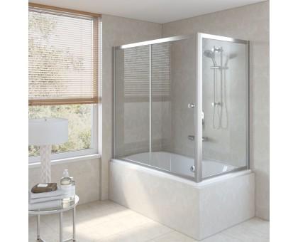 Душевая шторка на ванную ZV+ZVF 150*80 08 01 VegasGlass