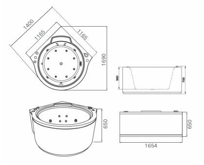 Акриловая ванна Gemy G9251 K