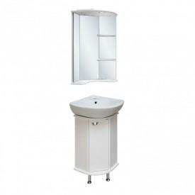 Комплект мебели для ванной Runo Браво угловой