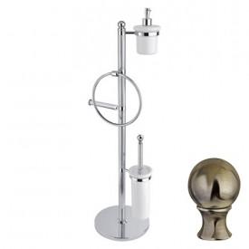 Стойка напольная c держателем туалетной бумаги Cezares OLIMP-WBD-02-M