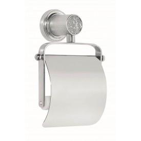 Держатель для туалетной бумаги с крышкой Boheme RoyalCristal 10921-CR