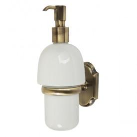 STANFORD Дозатор жидкого мыла настенный, бронза/керамика