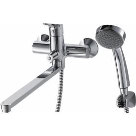 Смеситель для ванны c длинным изливом с аксессуарами Bravat Drop F64898C-LB