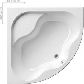 Акриловая ванна Ravak GENTIANA CG01000000 150 x150 белая
