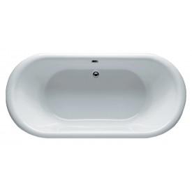 Овальная ванна Riho Dua 180x86 с черной глянцевой панелью BD0166500000000